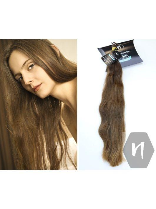 Hullámos magyar póthaj, európai póthaj, középbarna póthaj hajhosszabbításhoz, 60cm magyar póthaj