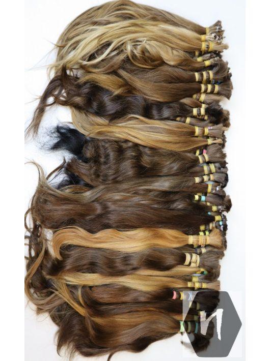 Gyakorló póthaj, vágott emberi haj (feldolgozatlan) magyar póthaj 40-50 cm