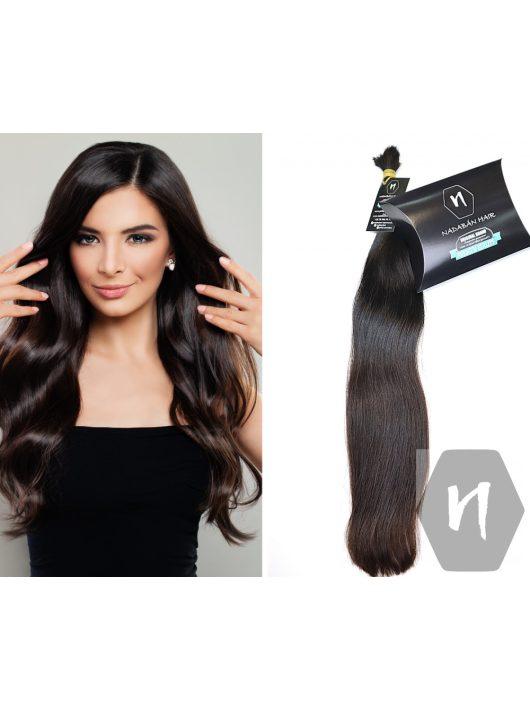 60cm sötétbarna póthaj európai póthaj keleti póthaj hajhosszabbítás