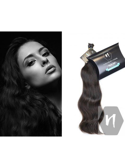 Vágott emberi haj (feldolgozatlan) magyar póthaj 45 cm 122 gramm