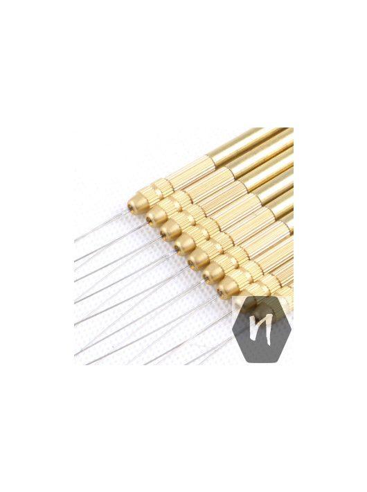 fém nyelű behúzó acél hurok mikrogyűrű és hüvely technikához hajhosszabbítás
