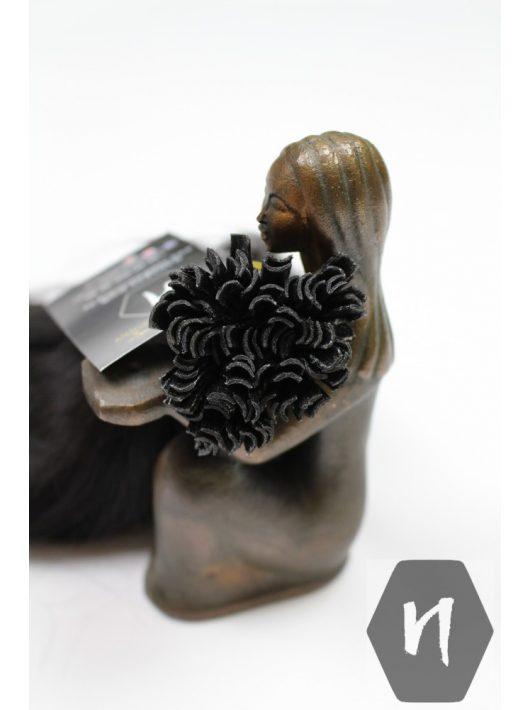 Vágott emberi feldolgozott haj, sötétbarna póthaj 50 cm (hőillesztéshez - U alakú tincs) (10 gramm)