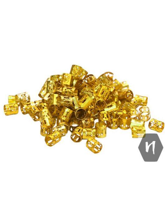 Hajdísz-hajékszer henger forma arany színben 5db