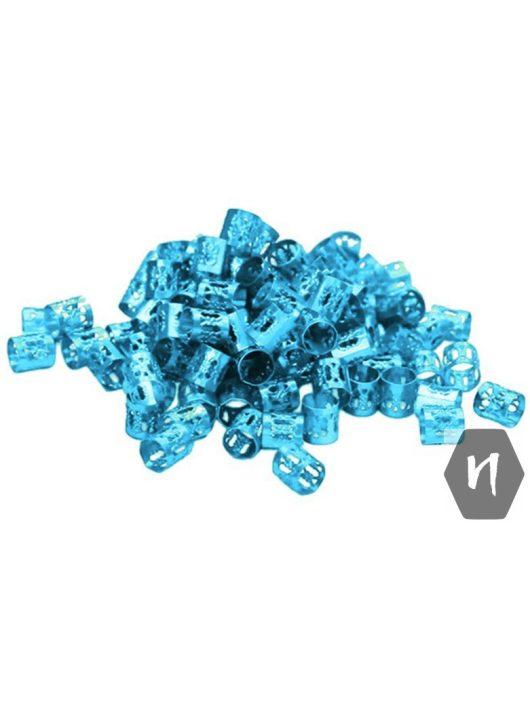 Hajdísz-hajékszer henger forma kék színben 5db