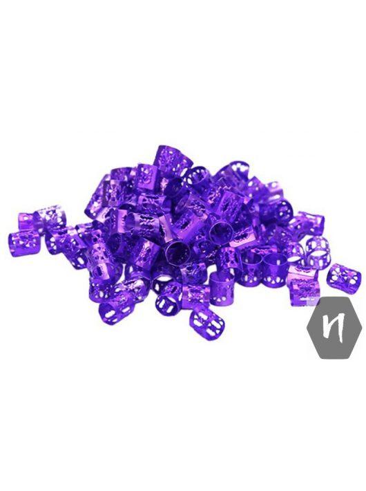 Hajdísz-hajékszer henger forma lila színben 5db