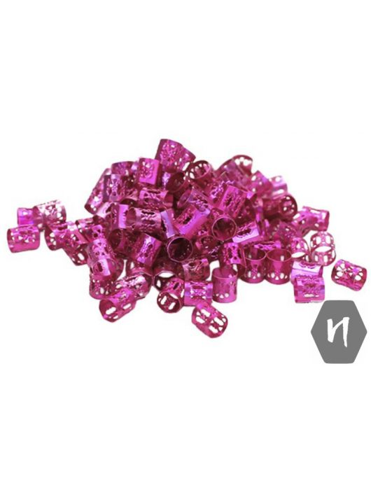 Hajdísz-hajékszer henger forma rózsaszín 5db