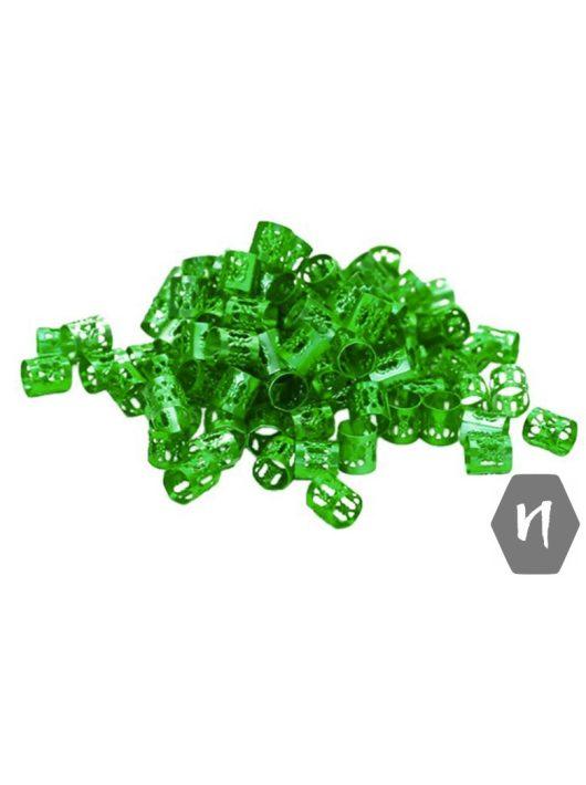 Hajdísz-hajékszer henger forma zöld színben 5db