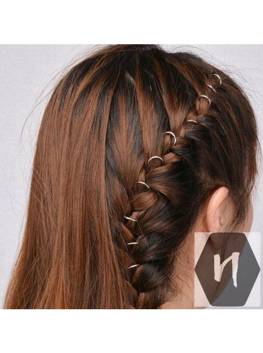 Hajdísz-hajékszer karika forma 18k arany színben 14mm átmérőben