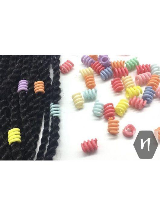 Hajdísz-hajékszer spirál forma vegyes színekben 5db