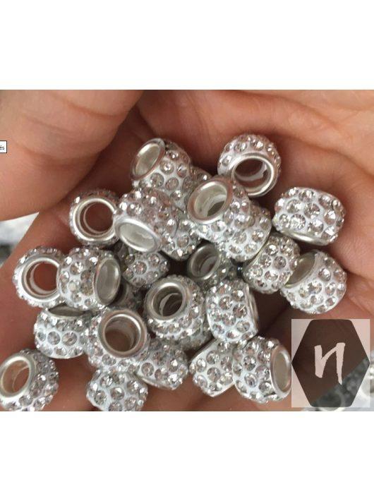 Hajdísz-hajékszer gyűrű forma strassz kövekkel ezüstös színben