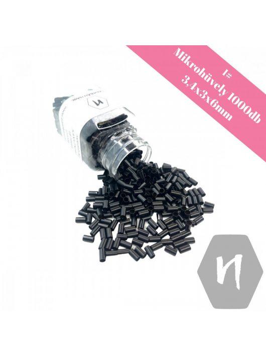 Mikrohüvely perem nélkül 1# fekete (1000 db)