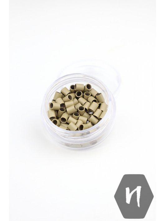 Mikrohüvely Euro Lock perem nélküli 6# hamvasszőke (100 db)
