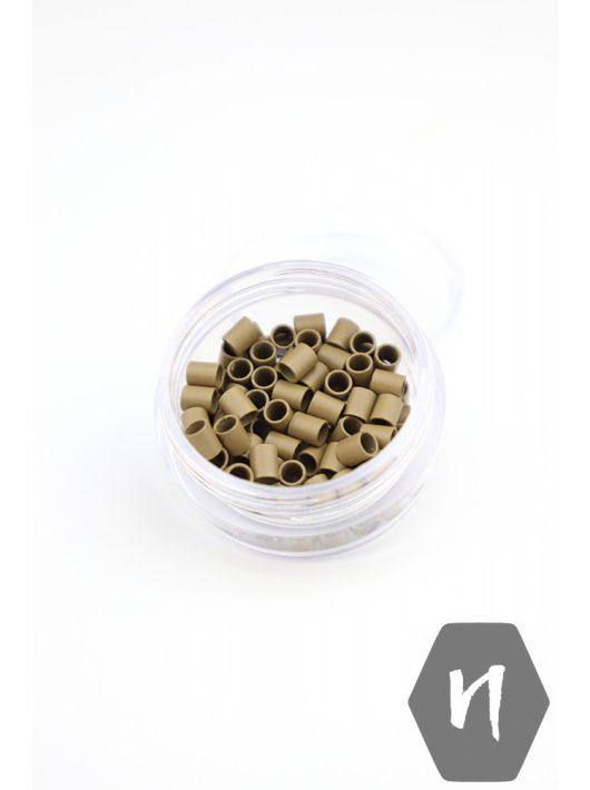 Mikrohüvely Euro Lock perem nélküli 8# sötétszőke (100 db)