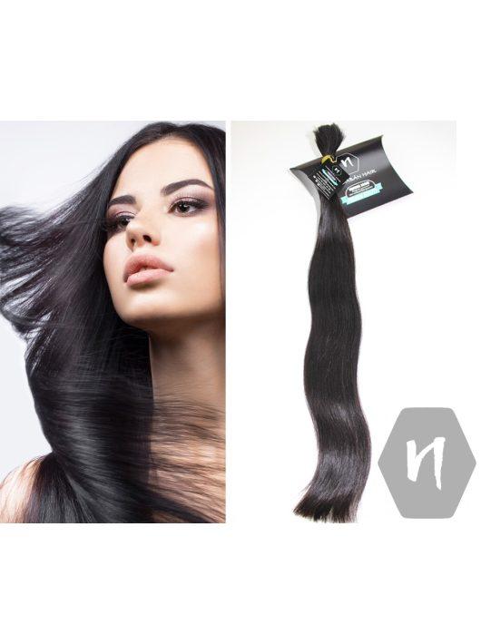 Vágott emberi haj (feldolgozatlan) sötétbarna póthaj 60-65 cm 112 gramm