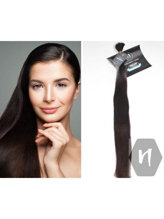Vágott emberi haj (feldolgozatlan) sötétbarna póthaj 60-64 cm 88 gramm