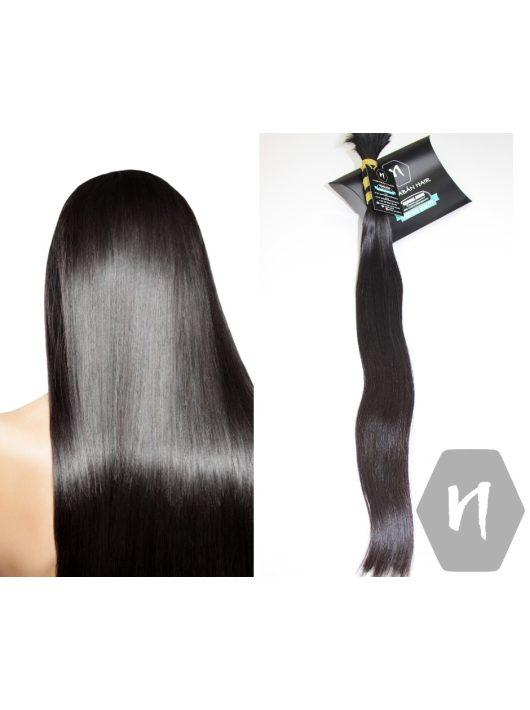 Vágott emberi haj (feldolgozatlan) sötétbarna póthaj 60-63 cm 124 gramm