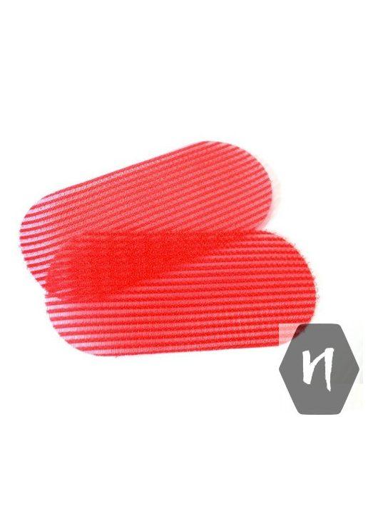 Szeparátor, tépőzáras hajleválasztó lap piros színben