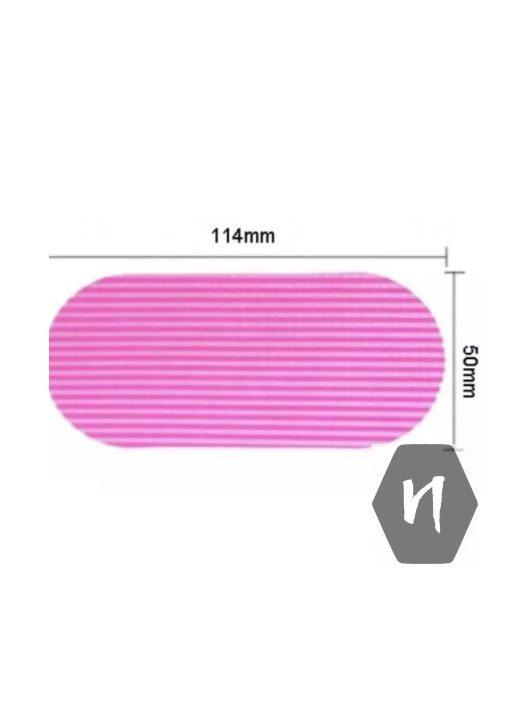 Szeparátor, tépőzáras hajleválasztó lap rózsaszín színben